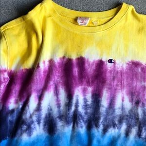 Champion Tops - champion tie dye sweatshirt